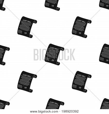 Last will icon in black design isolated on white background. Funeral ceremony symbol stock vector illustration.