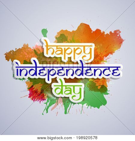 illustration of Happy Independence Day text on the occasion of India Independence Day