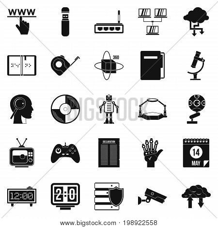 Facts icons set. Simple set of 25 facts vector icons for web isolated on white background