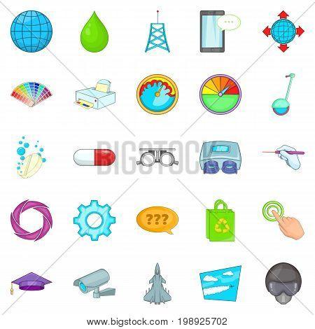 Undertaking icons set. Cartoon set of 25 undertaking vector icons for web isolated on white background
