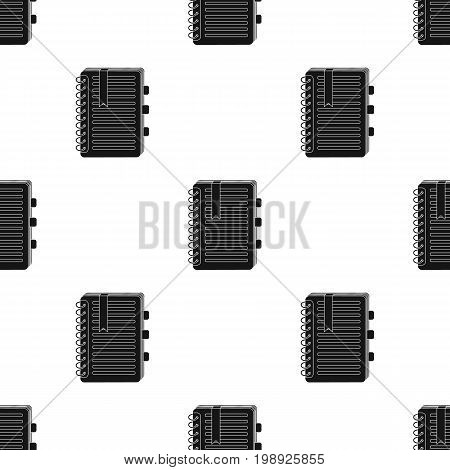 Personal dictionary icon in black design isolated on white background. Interpreter and translator symbol stock vector illustration.