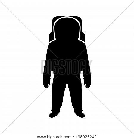Spaceman Black Color Icon .