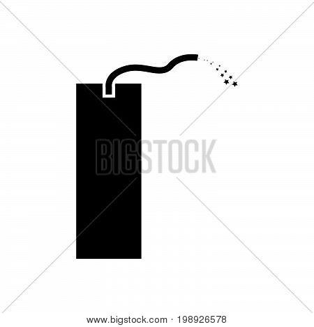 Dynamite Black Color Icon .