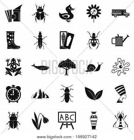 Bedbug icons set. Simple set of 25 bedbug vector icons for web isolated on white background