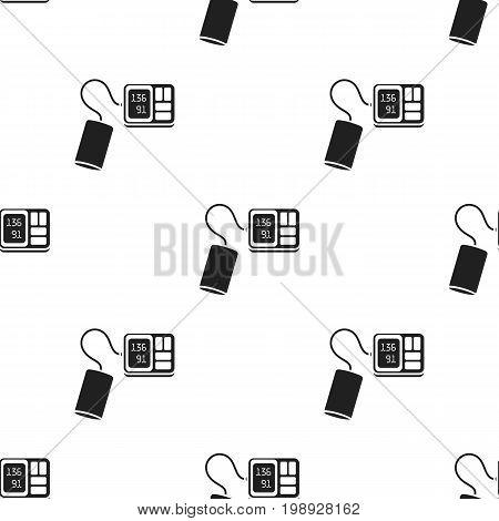 Tonometer icon black. Single medicine icon from the big medical, healthcare black.