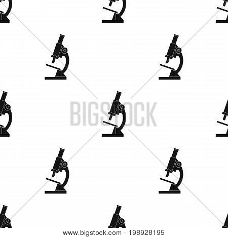 Microscope.Medicine single icon in black style vector symbol stock illustration .