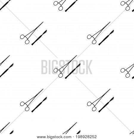 Surgical instruments.Medicine single icon in black style vector symbol stock illustration .