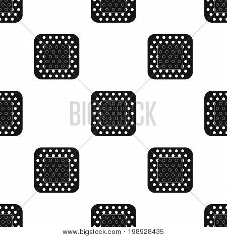 Medical plaster.Medicine single icon in black style vector symbol stock illustration .