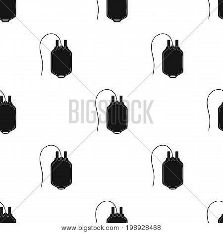 Bag of blood.Medicine single icon in black style vector symbol stock illustration .