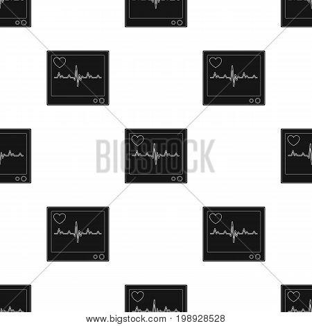 Medical monitor.Medicine single icon in black style vector symbol stock illustration .