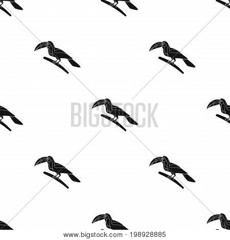 Mexican keel-billed toucan icon in black style isolated on white background. Mexico country symbol vector illustration.