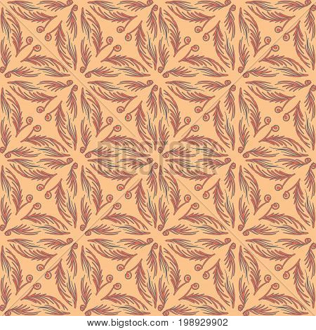 Arabesque decor. Seamless pattern Vector Illustration symmetry