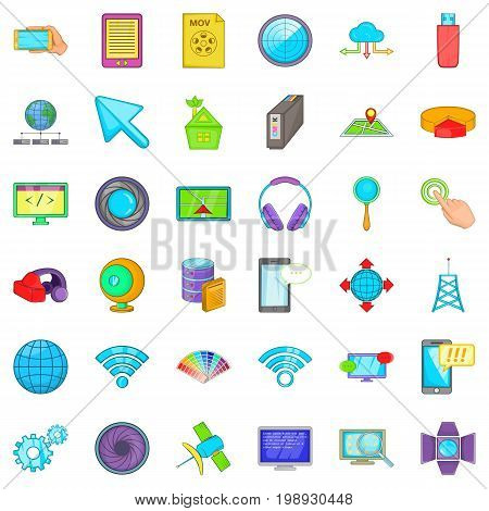 Web business icons set. Cartoon style of 36 web business vector icons for web isolated on white background