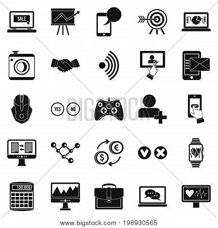 Intellect icons set. Simple set of 25 intellect vector icons for web isolated on white background