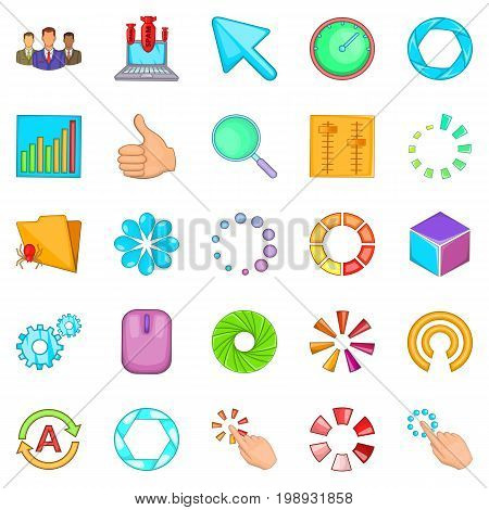 Insignia icons set. Cartoon set of 25 insignia vector icons for web isolated on white background