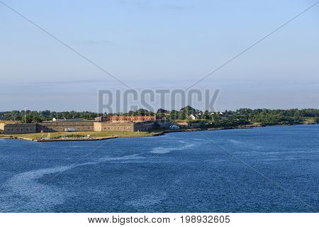 View of Fort Adams in Newport Rhode Island from the sea