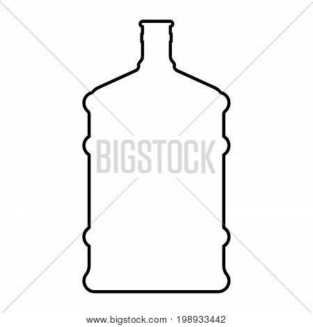 Dispenser Large Bottles Black Color Icon .