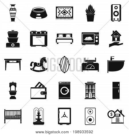 Crib icons set. Simple set of 25 crib vector icons for web isolated on white background