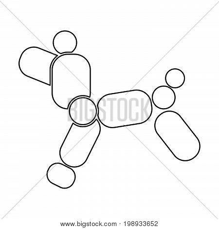 Dog Balloon Black Color Icon .