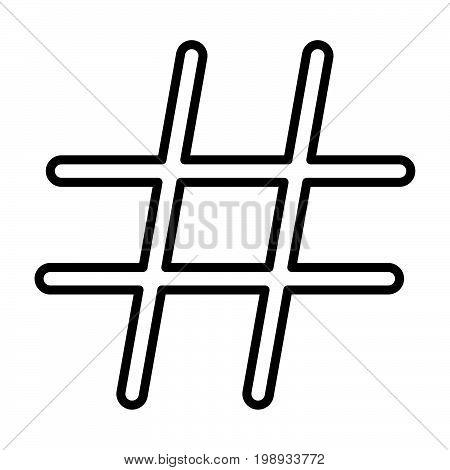 Hashtag Black Color Icon .