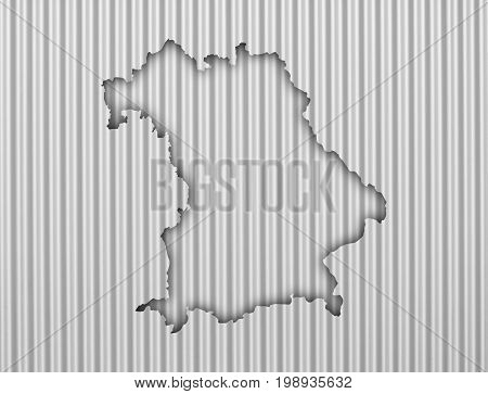 Map Of Bavaria On Corrugated Iron