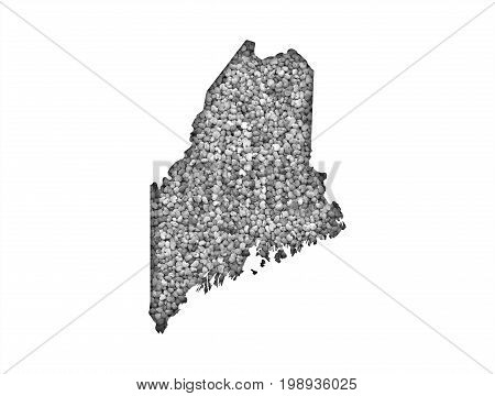 Map Of Maine On Poppy Seeds