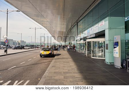 BARCELONA, SPAIN - CIRCA NOVEMBER, 2015: Barcelona Airport at daytime. Barcelona-El Prat Airport is an international airport. It is the main airport of Catalonia, Spain.