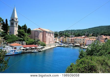 lovely small town Veli Losinj in Croatia