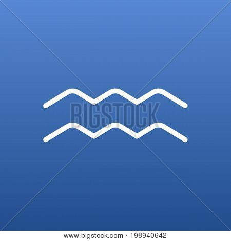 Isolated Water Bearer Outline Symbol On Clean Background