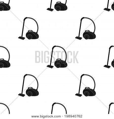 Vacuum cleaner icon in black design isolated on white background. Cleaning symbol stock vector illustration.