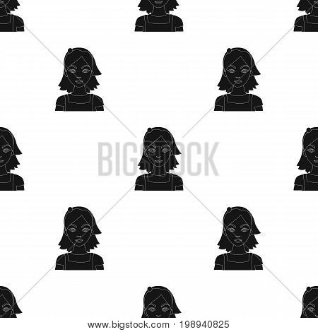 Housekeeper icon in black design isolated on white background. Cleaning symbol stock vector illustration.
