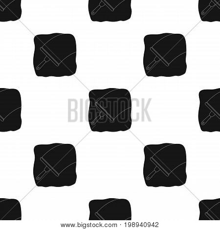 Squeegee icon in black design isolated on white background. Cleaning symbol stock vector illustration.