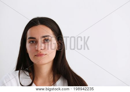 Norman indian worker woman portrait brunette one
