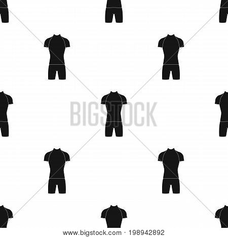 A cycling suit for riding a bicycle. Clothes cycling.Cyclist outfit single icon in black style vector symbol stock web illustration.