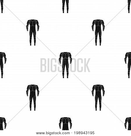 Outfitting for cyclists. Full body protection against falls.Cyclist outfit single icon in black style vector symbol stock web illustration.