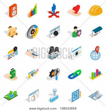 Online shopping icons set. Isometric set of 25 online shopping vector icons for web isolated on white background