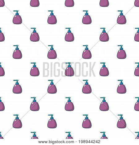 Dispenser pump cosmetic pattern in cartoon style. Seamless pattern vector illustration