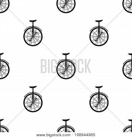 Unicycle for the circus. Bicycle with one wheel for performances.Different Bicycle single icon in black style vector symbol stock web illustration.