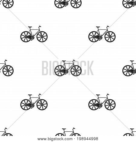 Sport bike racing on the track. Speed bike with reinforced wheels.Different Bicycle single icon in black style vector symbol stock web illustration.