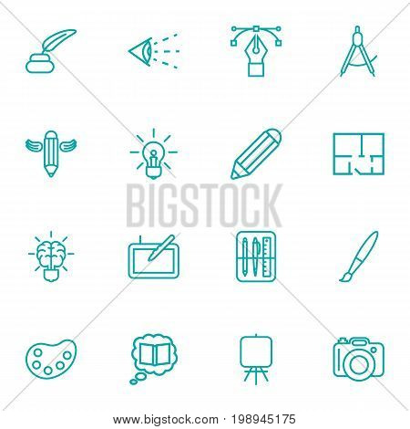 Set Of 16 Constructive Outline Icons Set
