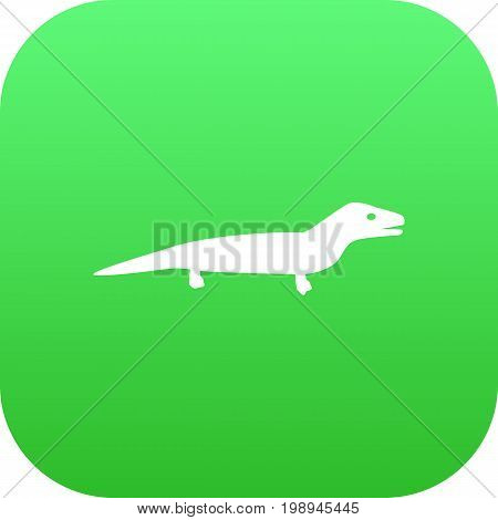 Isolated Lizard Icon Symbol On Clean Background