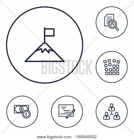 Set Of 6 Startup Outline Icons Set