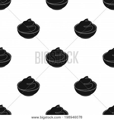 Mascarpone.Different kinds of cheese single icon in black style vector symbol stock illustration .