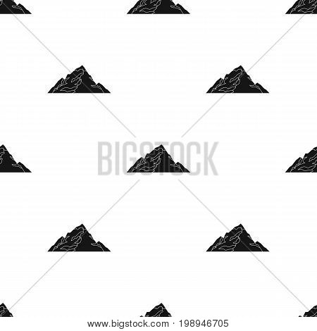 Ice mountain covered with snow.A mountain for skiing.Different mountains single icon in black style vector symbol stock web illustration.