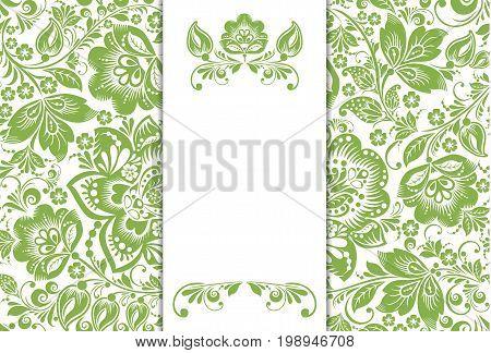 Greenery ecology floral background decoration, illustration.