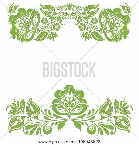 Greenery ecology floral frame, foliage wallpaper decoration, illustration.