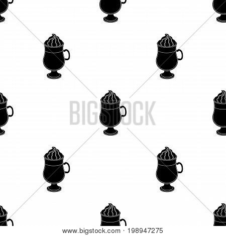 Cup of Irish coffee.Different types of coffee single icon in black style vector symbol stock illustration .