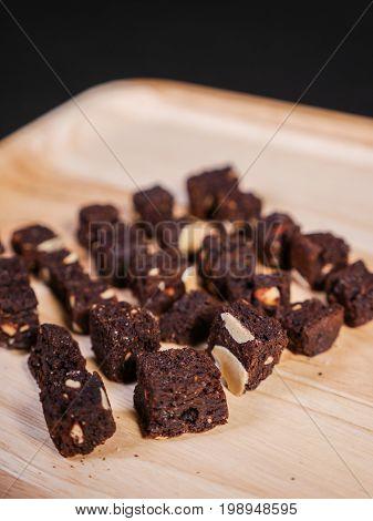 Crispy Crunchy Skinny Chocolate Almond Brownies.