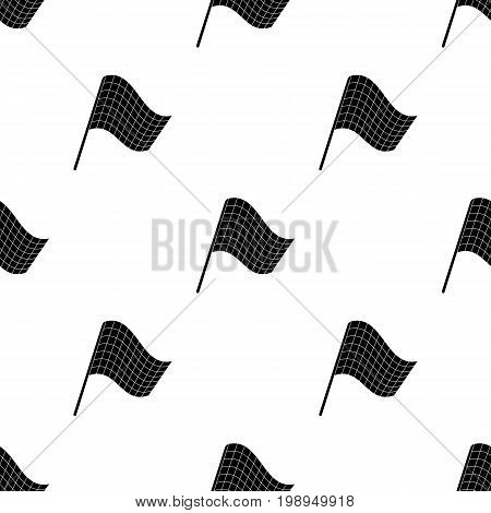 Flag in football referee.Fans single icon in black  vector symbol stock illustration.