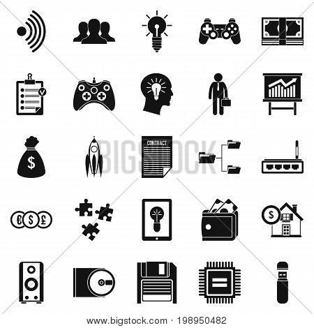 IT project icons set. Simple set of 25 it project vector icons for web isolated on white background